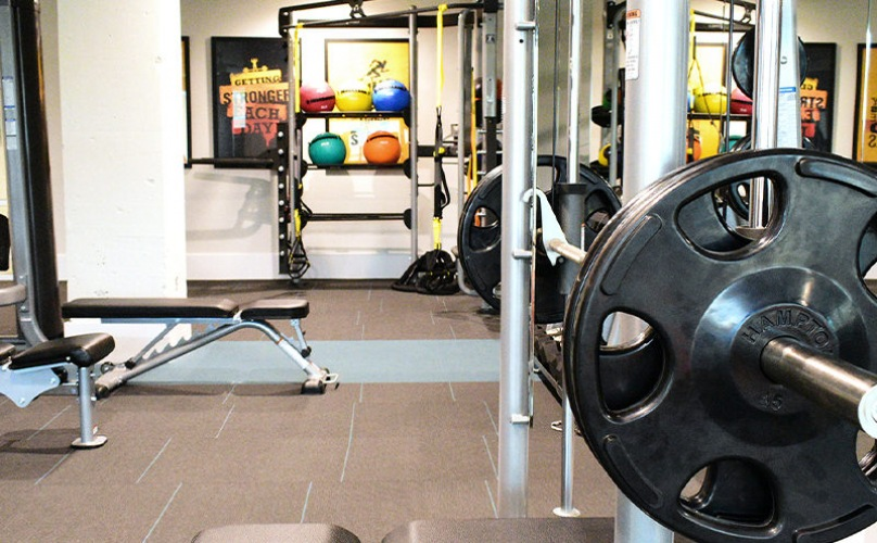 Fitness Center with machines and free weights